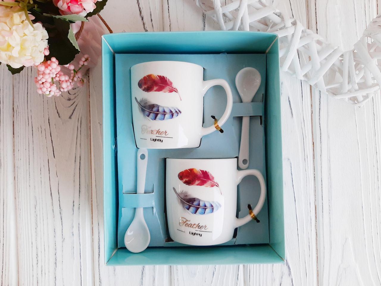 Набор кофейных чашек в подарочной упаковке, 200 мл