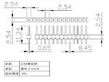 Разьем PLS-1x40 шаг 2,54мм, фото 2