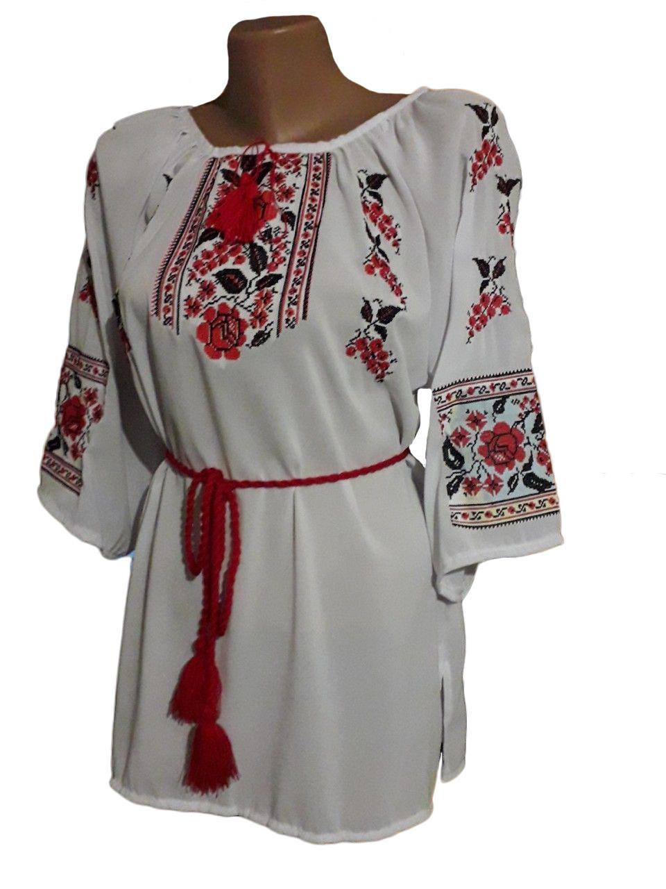"Жіноча вишита сорочка (блузка) ""Пейгон"" (Женская вышитая рубашка (блузка) ""Пейгон"") BU-0006"