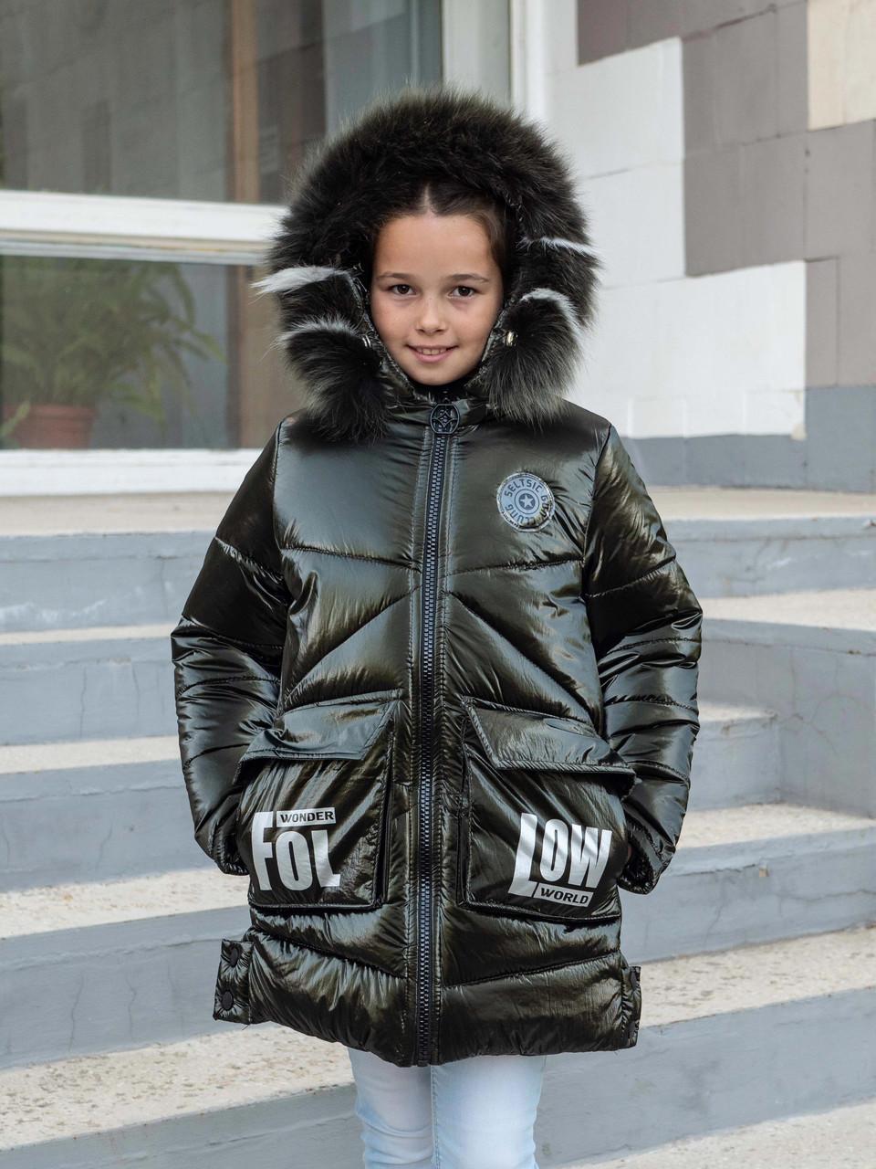 Зимові куртки для дівчинки від виробника 34-42 чорний