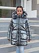 Зимові куртки для дівчинки від виробника 34-42 чорний, фото 6