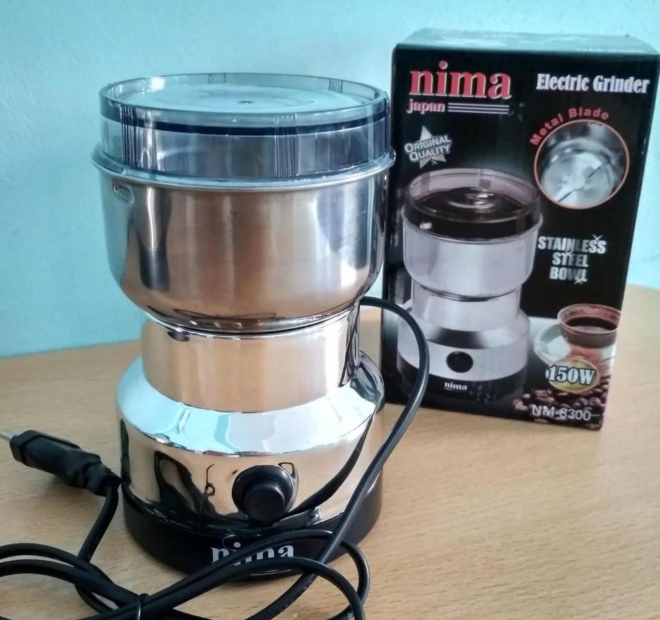 Кофемолка металлическая Nima NM-8300 Japan (150W)
