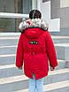 Зимняя куртка парка для девочки от производителя 32-42 черный, фото 4