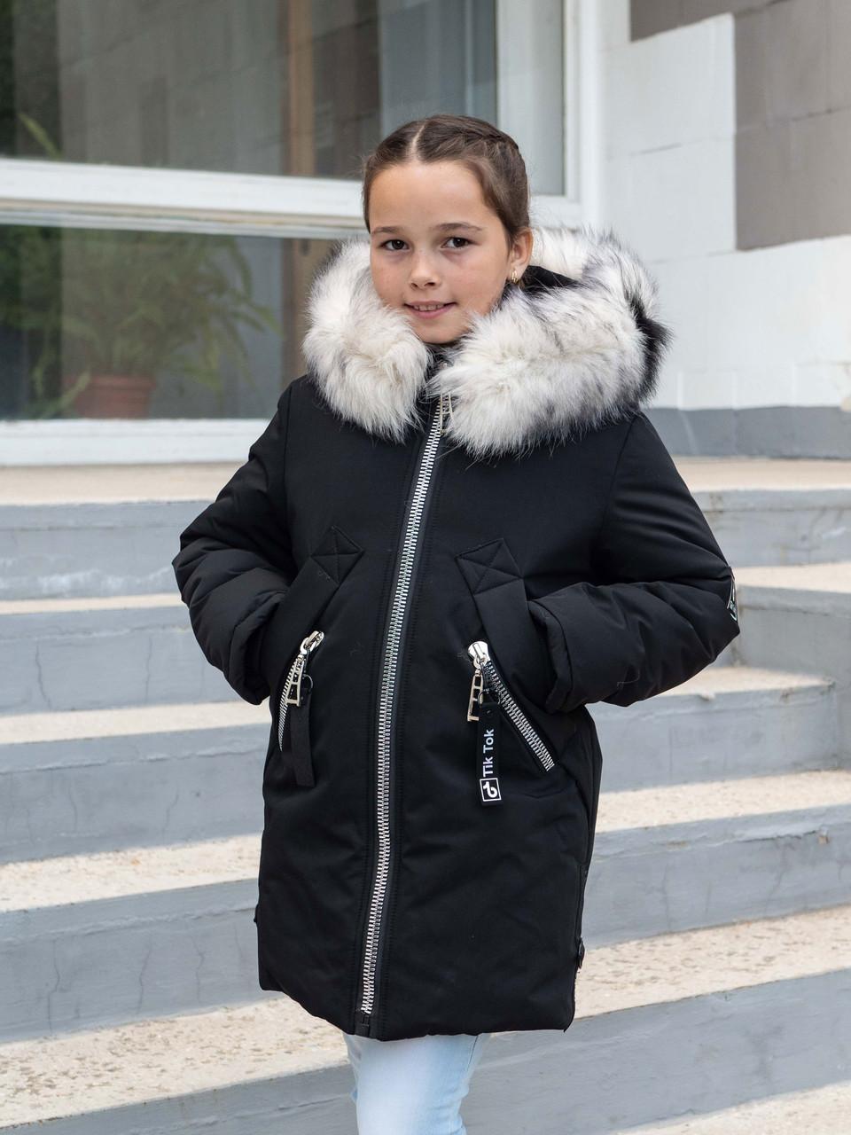 Зимняя куртка парка для девочки от производителя 32-42 черный