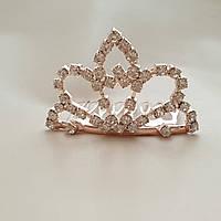 Маленька корона гребінець колір металу золото