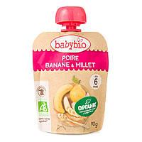 Органическое Фруктовое пюре Babybio Груша Банан 130 г 54019 ТМ: Babybio