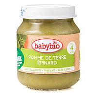 Органическое Овощное пюре Babybio Картошка Шпинат 130 г 51045 ТМ: Babybio