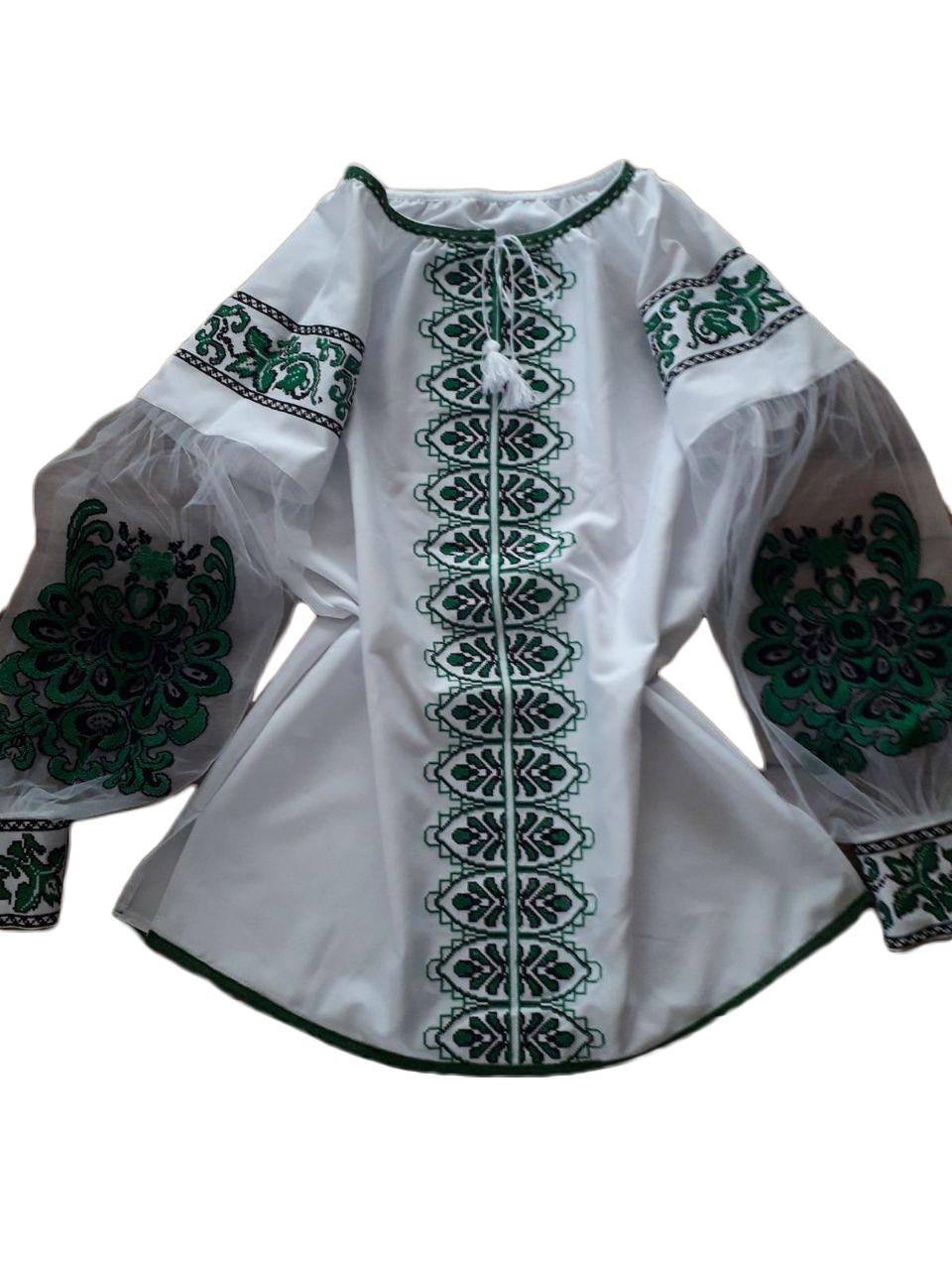 "Жіноча вишита сорочка (блузка) ""Ріана"" (Женская вышитая рубашка (блузка) ""Риана"") BU-0009"