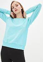 Женский мятный однотонный Свитшот без начеса, легкий свитер, кофта весна-осень