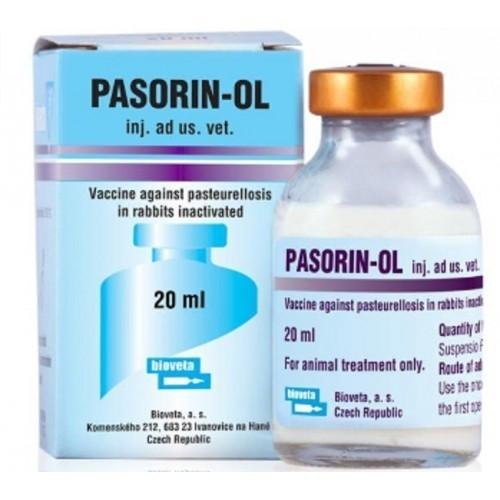 ПАЗОРИН - ОЛЬ PASORIN-OL вакцина для иммунопрофилактики пастереллеза кроликов, 20 мл, 20 доз