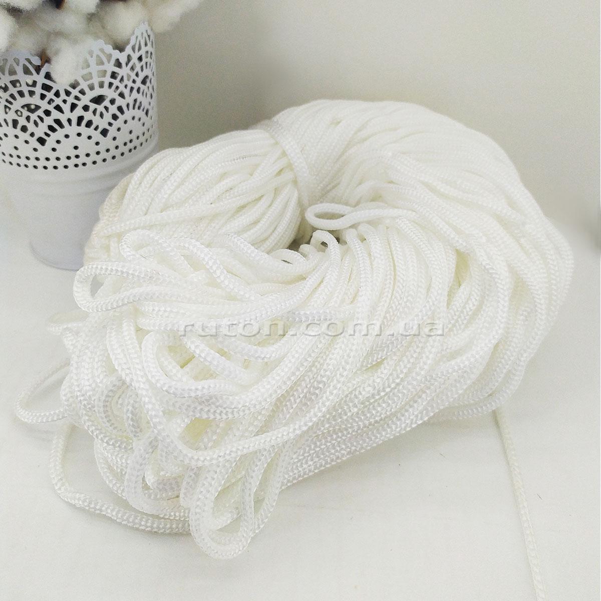 5 мм 85 м белый Шнур полиэфирный без сердечника ХендМейд для вязания ковриков и сумок