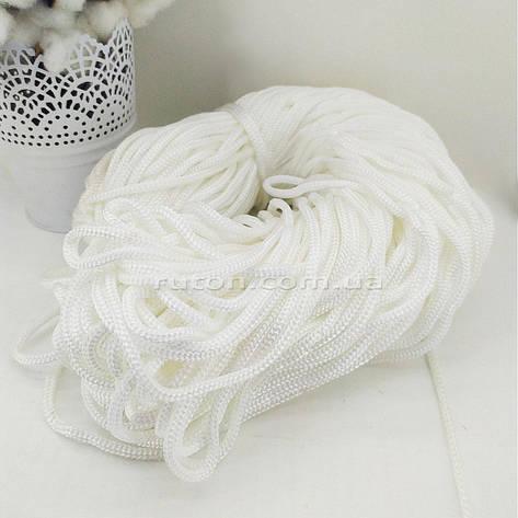 5 мм 85 м белый Шнур полиэфирный без сердечника ХендМейд для вязания ковриков и сумок, фото 2