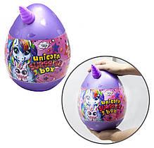 Игрушка Яйцо - шкатулка сюрприз большое для девочки Единорог, набор для творчества, игр и развития