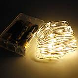 Гирлянда светодиодная нить 2 м 20 led (теплая белая) Warm White на батарейках #19, фото 8