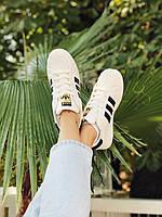 Кроссовки белые с черными полосками Адидас Суперстар Adidas Superstar, фото 1