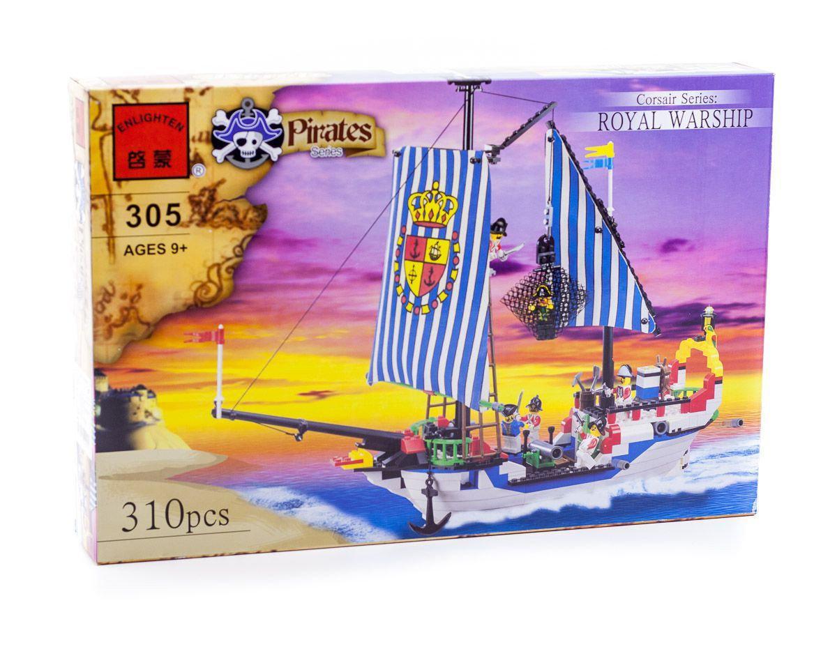 """Конструктор """"Пиратский корабль"""" 310 дет, Brick 305"""
