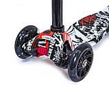 Детский самокат MAXI Street Чёрные светящиеся колёса, фото 2