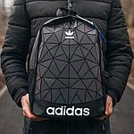 Спортивний міський рюкзак Adidas Bags Mate Reflective (чорно-сірий) 515KN, фото 4