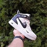 Жіночі зимові кросівки Nike Air Force 1 Mid LV8 (біло-чорні) 3550, фото 5
