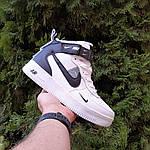 Жіночі зимові кросівки Nike Air Force 1 Mid LV8 (біло-чорні) 3550, фото 6