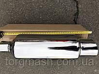 Прямоточний глушник з флейтою вхід 60 ,вихід 100