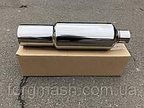 Прямоточний глушник вхід 60 мм вихід 100мм