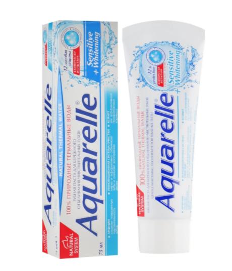 Зубная паста Aquarelle 75г Sensetive+Whitening