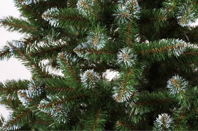 Искусственная елка с инеем Анастасия 1,8 метра пушистая , на подставке, фото 2