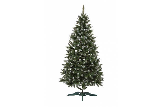 Искусственная елка с инеем Анастасия 2,1 метра пушистая , на подставке, фото 2