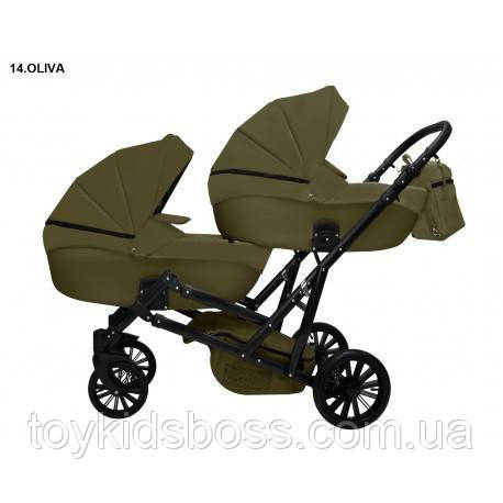 Дитяча коляска для двійні MIKRUS GEMELLO 14