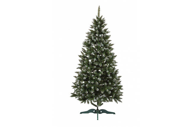 Искусственная елка с инеем Анастасия 2,5 метра пушистая , на подставке, фото 2