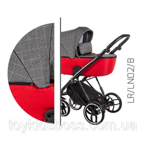 Детская универсальная коляска 2 в 1 Baby Merc La Rosa LR.LN02.B