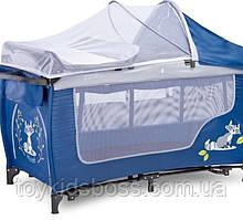 Дестких манеж-ліжечко Grande plus navy