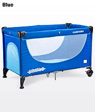 Дитячий манеж-ліжко Caretero Simplo blue