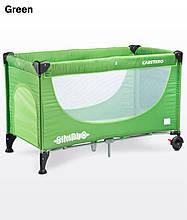 Дитячий манеж-ліжко Caretero Simplo green