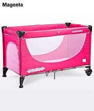 Детский манеж-кровать Caretero Simplo magenta