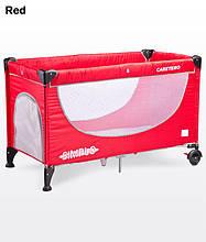 Дитячий манеж-ліжко Caretero Simplo red