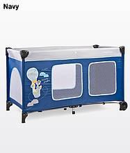 Дитячий манеж-ліжко Simplo Plus navy