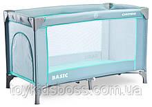 Детский манеж-кровать Сaretero Basic mint