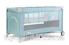 Дитячий манеж-ліжко Сaretero Basic Plus mint