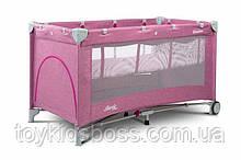 Дитячий манеж-ліжко Сaretero Basic Plus pink