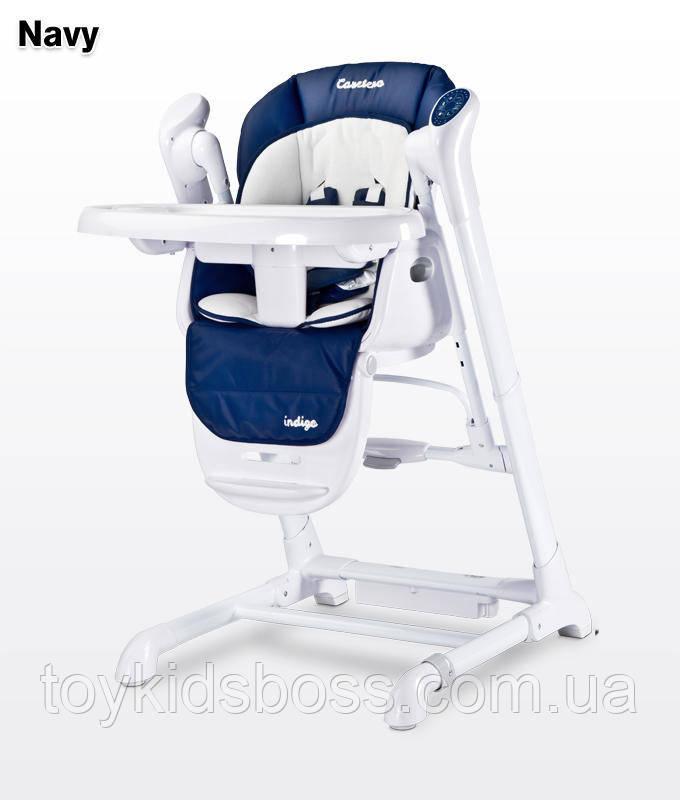 Детский стульчик для кормления + качель Caretero Indigo navy