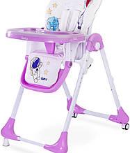 Дитячий стільчик для годування Caretero Luna pink