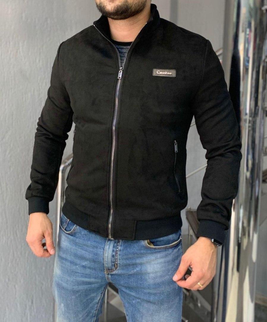 Мужская куртка стильная приталенная. Дорогой и приятный материал, велюр. Размеры: L, 3XL, 4XL.