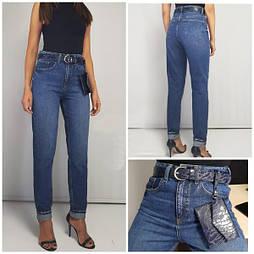 Жіночі джинси МОМ синього кольору (Виміри в описі)
