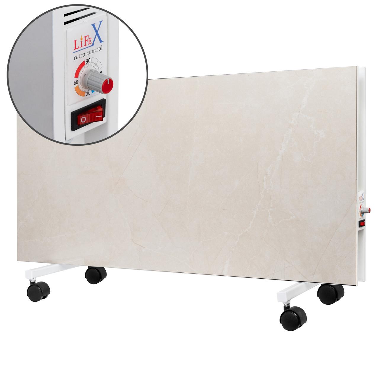 Керамічний обігрівач підлоговий LIFEX D. Floor 1200R (бежевий мармур) з терморегулятором