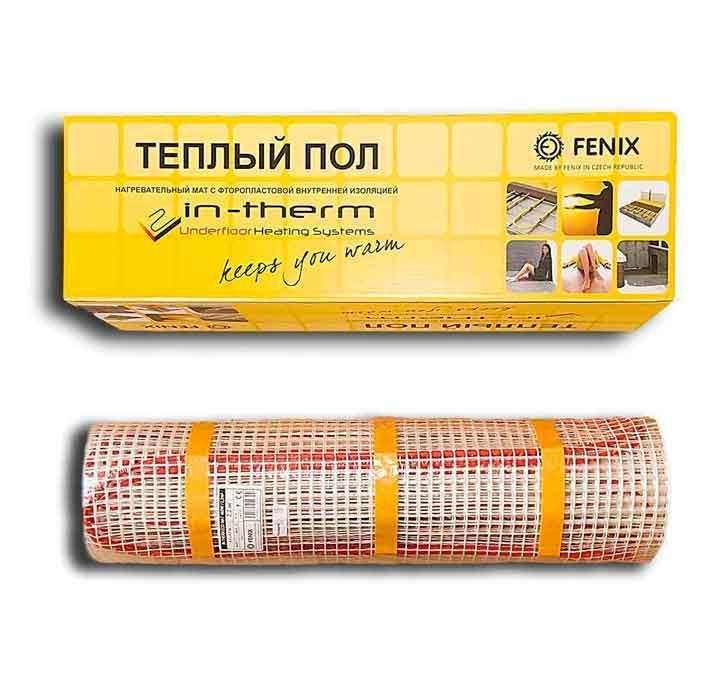 0,8м2 Мат нагрівальний 0.8 м. кв Fenix In-Therm ECO Чехія