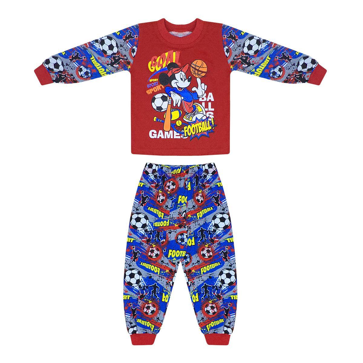 Барвиста дитяча піжама з принтом Міккі для хлопчика кулір