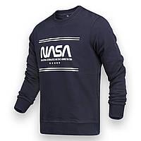 Свитшот осень-зима т синий NASA с принтом DBLU S(Р) 20-521-003