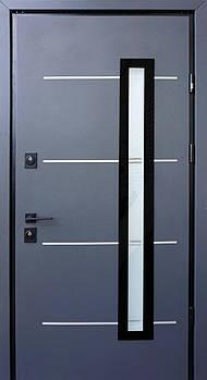 Входные двери Straj ул. серия Proof модель Giada E с з-ми Mottura (с оцинкованной сталью 1мм) с черной ф-рой